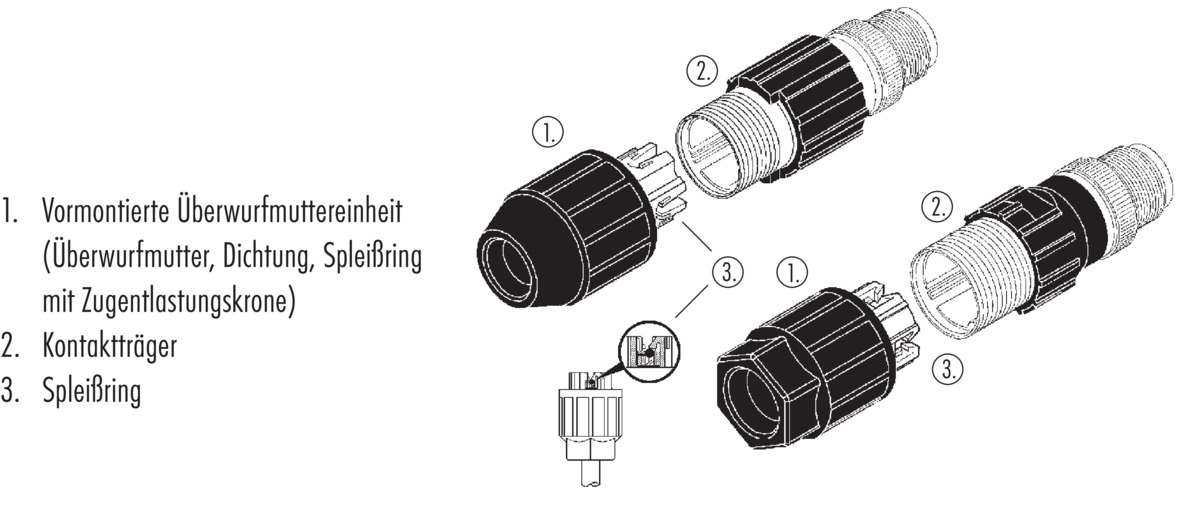 Female cable connector with insulation displacement