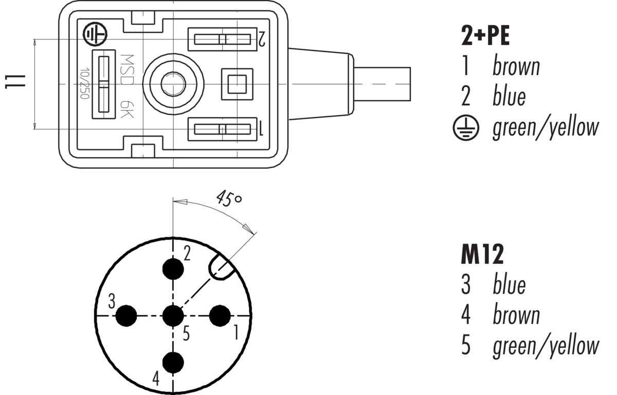 Connecting Cable Female Power Connector Industrial