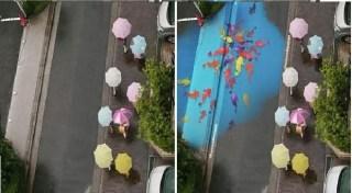 Arte con el agua en las calles de Seúl 4