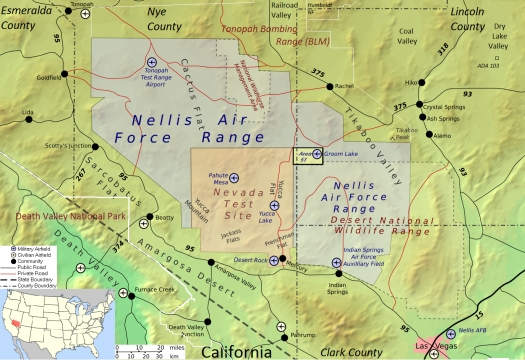 Las bases militares en el desierto de Nevada