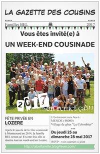 invitation cousinade 2017 la bel famille
