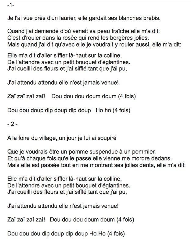 Parole Siffler Sur La Colline : parole, siffler, colline, Dassin, (Joe), Siffler, Colline, Rosedor4