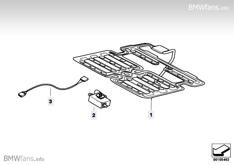 Electr.compon.seat occupancy detection BMW X3 E83, X3 2.0d