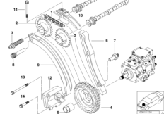 Engine — illustrations BMW 3' E46, 320d (M47) — BMW parts