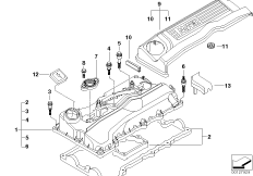 Crankcase-Ventilation/oil separator BMW 3' E90, 320i (N46