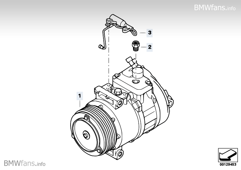 Air-conditioner compressor BMW X3 E83, X3 2.0d (M47N2