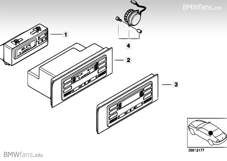 E38 Rear console with rear climate control on E39 possible