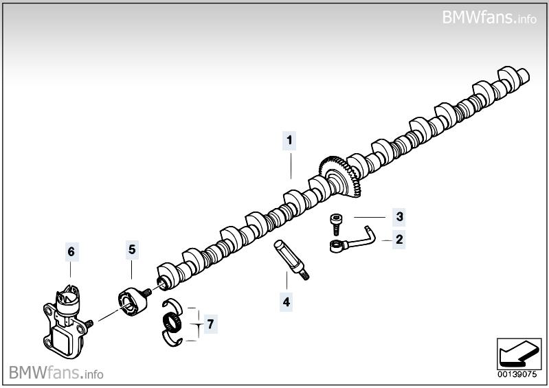 Valve timing gear, eccentric shaft BMW X5 E70, X5 3.0si