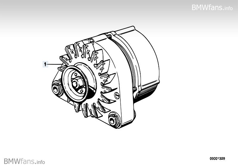 Alternator BMW 3' E30, 316i (M40) — BMW parts catalog