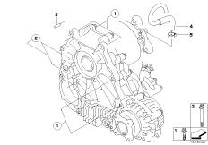 Single parts f transfer case ATC 300 BMW 5' E60, 525xi