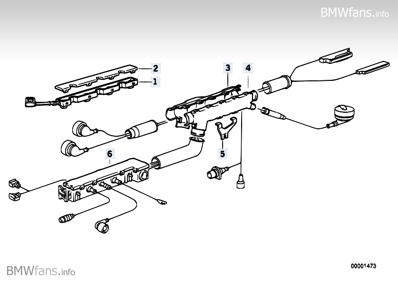 Engine wiring harness BMW 3' E36, 318i (M43) — BMW parts
