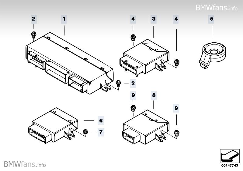 Body control units and modules BMW Z4 E85, Z4 3.0si (N52