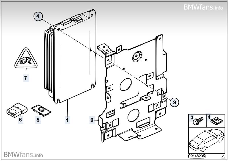 Amplifier/holder, Hi-Fi Professional DSP BMW X5 E53, X5 4