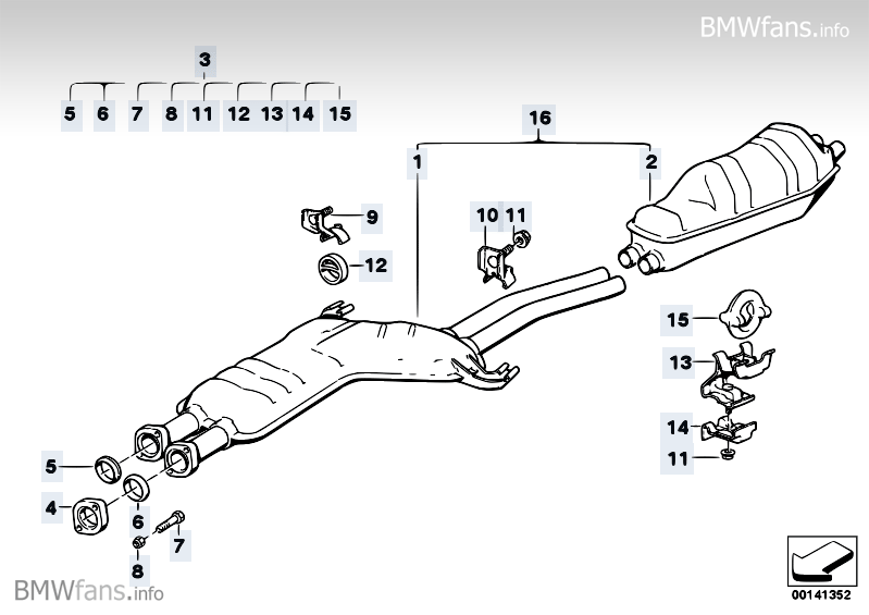 Will a 535i Exhaust System bolt right up on a 525i