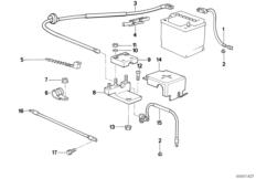 Engine wiring harness BMW 3' E30, 320i (M20) — BMW parts