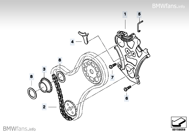 Lubrication system/Oil pump drive BMW 3' E90, 325i (N52