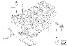 Engine — illustrations BMW 3' E46, 320d (M47N) — BMW parts
