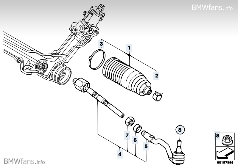 Steering linkage/tie rods BMW X5 E70, X5 3.0sd (M57N2