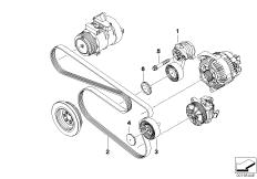 Belt drive-alternator/AC/power steering BMW X5 E70, X5 3