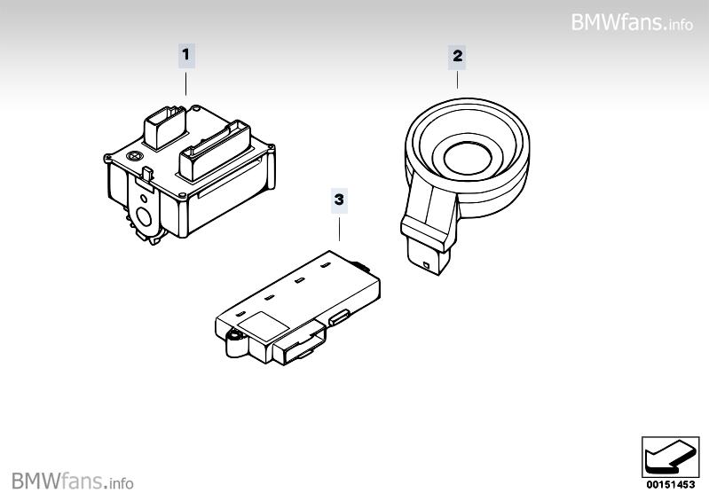 Ignition start. switch/ring antenna/CAS BMW 5' E60, 530d