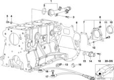 Engine — illustrations BMW 3' E46, 318i (M43) — BMW parts