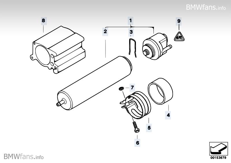 Fuel filter BMW 5' E60, 530d (M57N) — BMW parts catalog
