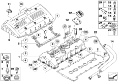 Crankcase-Ventilation/oil separator BMW 3' E90, 325i (N52