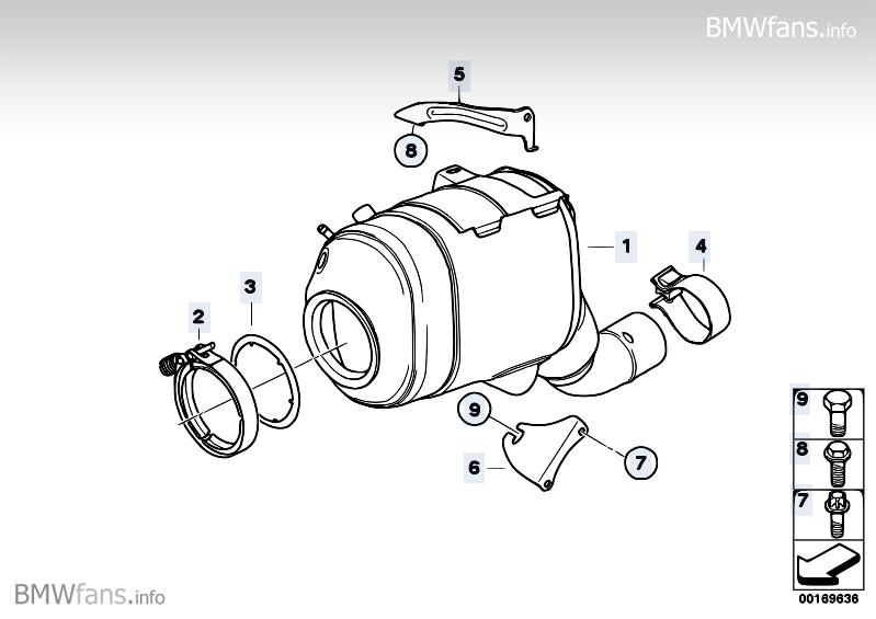 Catalyser/Diesel particulate filter BMW X5 E70, X5 3.0d