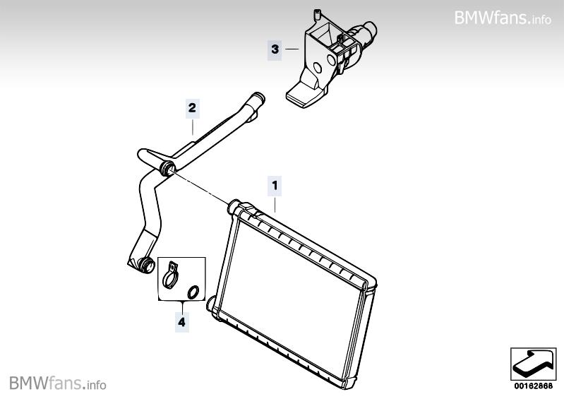 Heater radiator BMW 3' E90, 320i (N46N) — BMW parts catalog
