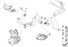 Intake manifold AGR with flap control BMW X3 E83, X3 2.0d
