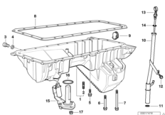 Engine — illustrations BMW 5' E39, 520i (M52) — BMW parts
