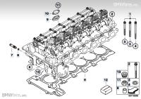 Cylinder Head Attached Parts BMW X5 E70, X5 3.0si (N52N ...