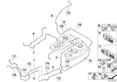 Fuel line / fuel filter BMW X6 E71, X6 50iX (N63) — BMW