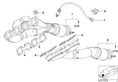 Emission control-air pump BMW 5' E39, 540i (M62) — BMW