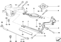 Rear axle — illustrations BMW 3' E36, 318is (M42) — BMW