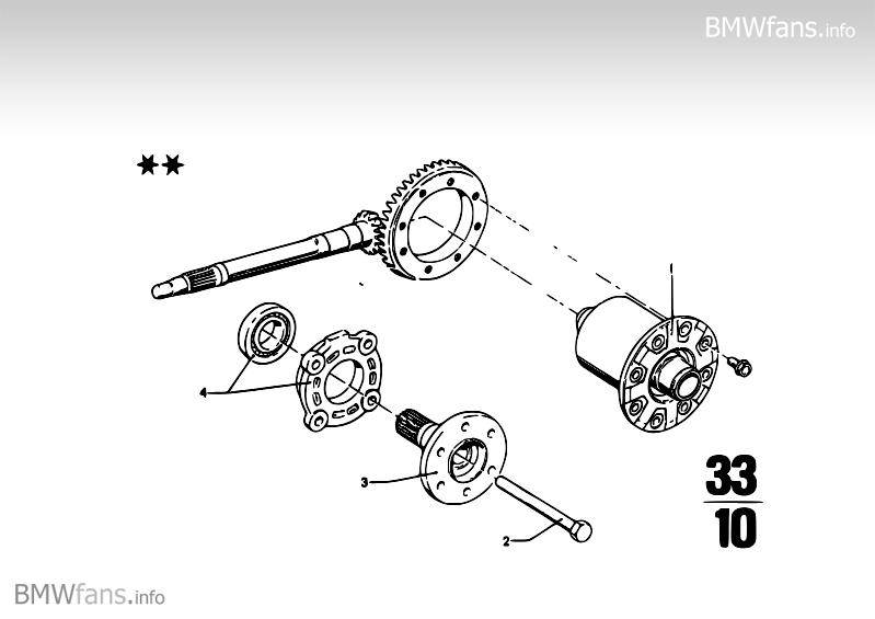 Differential-limited slip diff.unit BMW 1500-2000CS