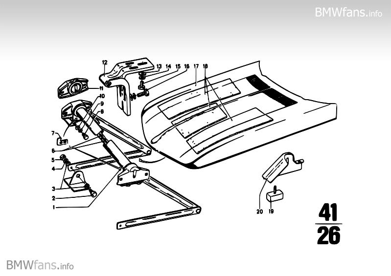 Hood BMW 1502-2002tii, 1602 (M10) — BMW parts catalog