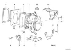 Fuel preparation system — illustrations BMW 3' E36, 318is
