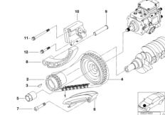 Engine — illustrations BMW 3' E46, 320d (M47) — BMW parts