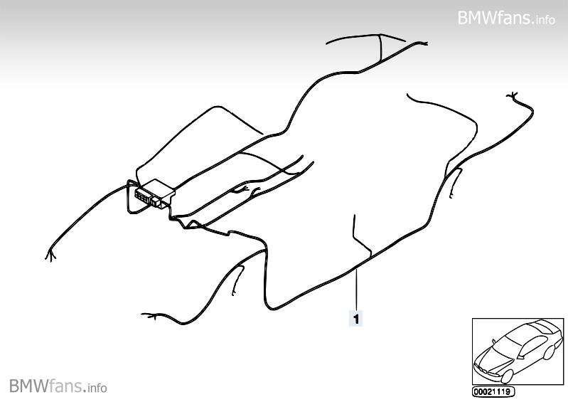 Audio wiring harness BMW 3' E90, 320i (N46) — BMW parts
