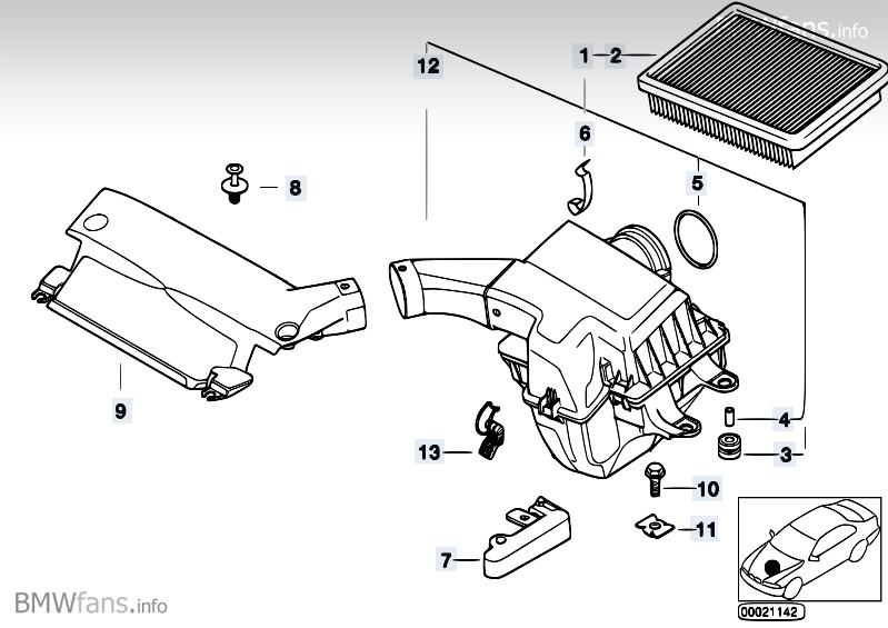 M3 Luftfilteransaugschnorchel zum Bremsluftkanal