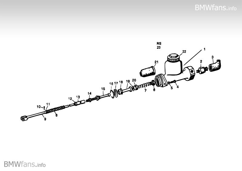 Brake master cylinder BMW Isetta, 300 (1-Zyl) — BMW parts