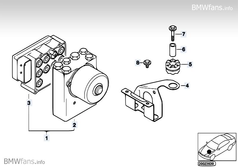 ASC hydro unit/control unit/support BMW 3' E36, 325tds