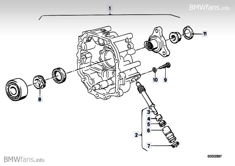 Getrag 262 speedometer drive BMW 7' E23, 728 (M30) — BMW