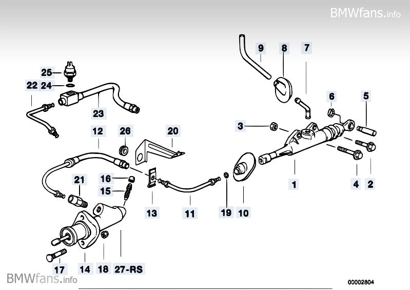 Clutch control BMW 3' E36, M3 (S50) — BMW parts catalog
