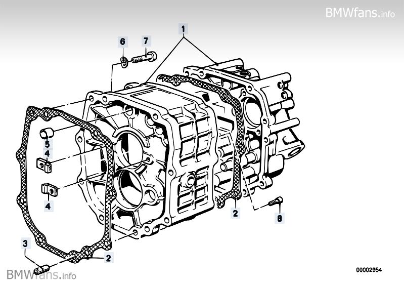Getrag 265/5 cover+attach.parts BMW 3' E30, M3 (S14) — BMW
