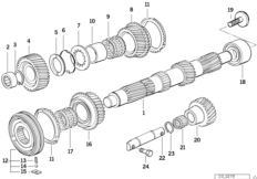 Manual transmission — illustrations BMW 3' E36, 318is (M42