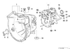 Manual transmission — illustrations BMW 3' E36, 318is (M42