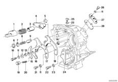 Getrag 240 speedometer drive BMW 3' E21, 316 (M10) — BMW