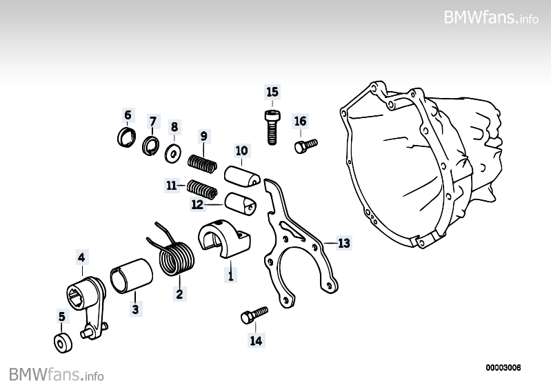 S5D...G inner gear shifting parts BMW 3' E46, 318Ci (M43